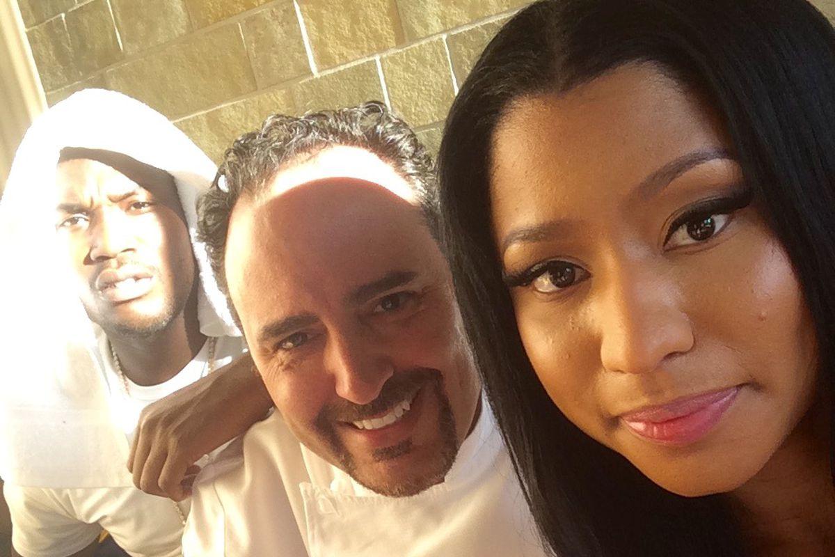 Meek Mill, chef Barry S. Dakake and Nicki Minaj