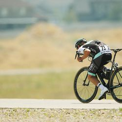 Tour of Utah rider Hayden McCormick competes on the Mountain View Corridor in Salt Lake County on Thursday, Aug. 4, 2016.