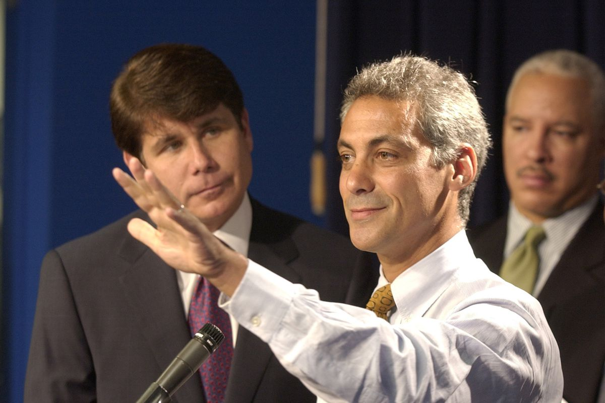 Rahm Emanuel, then a congressman, and Rod Blagojevich, then a governor, in 2004.