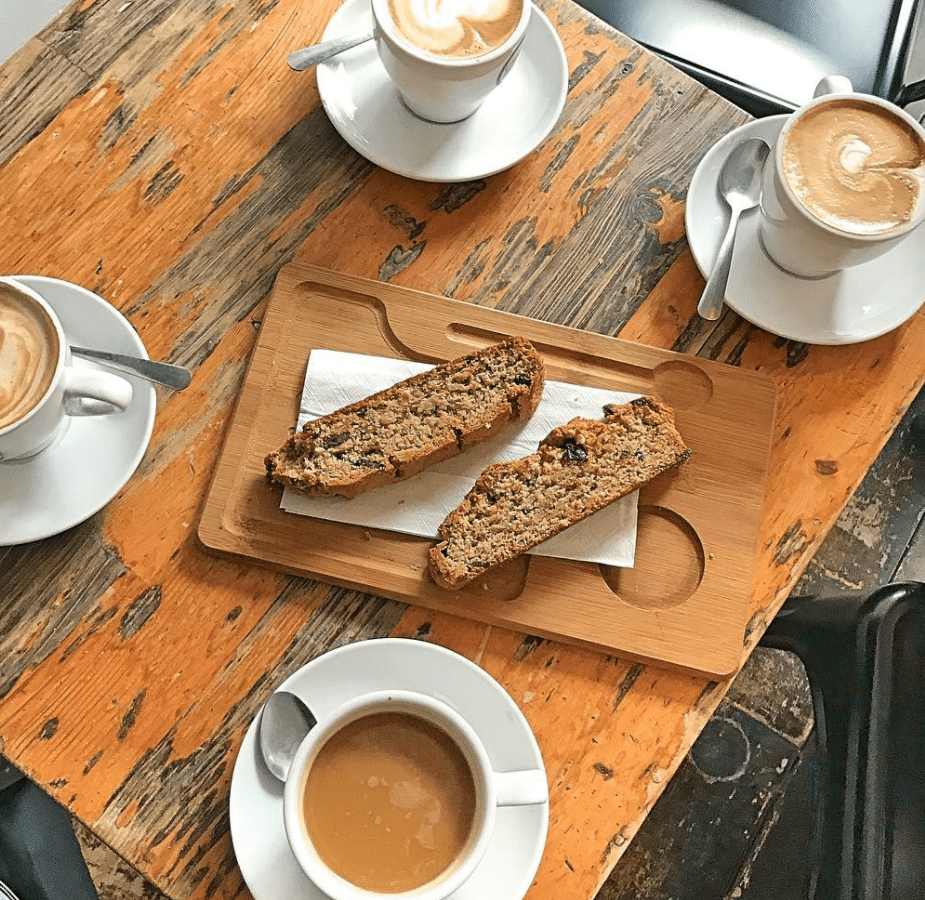 Biscotti on a table.