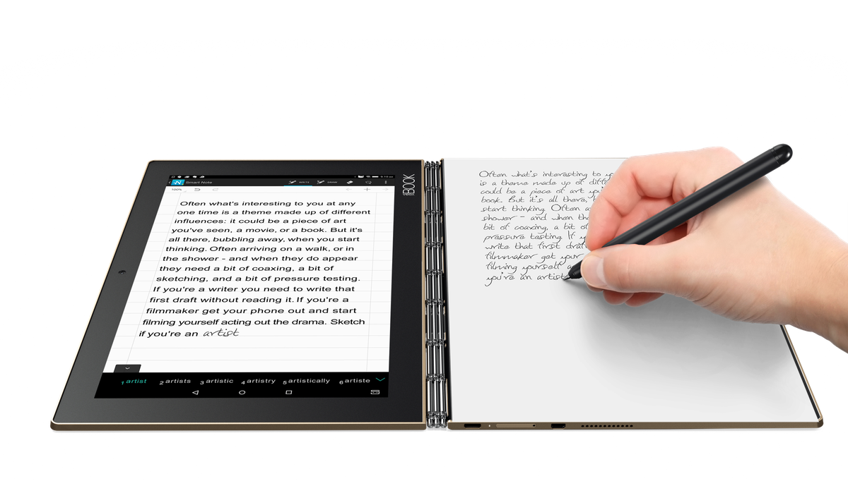 Lenovo S Yoga Book Is A New Kind Of Tablet The Verge