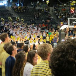 GT Band and an Empty Student Section