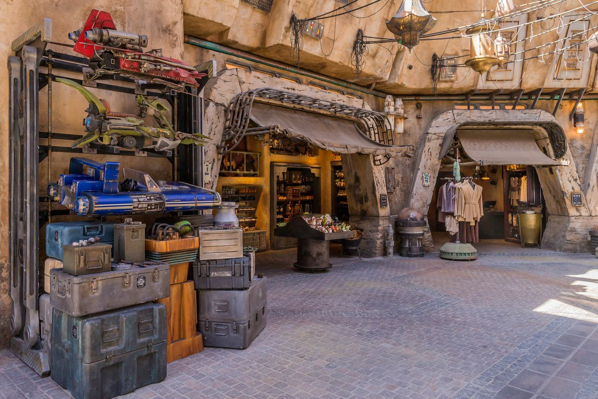 Guests visiting Star Wars: Galaxy's Edge at Disneyland Park in Anaheim, California, and at Disney's Hollywood Studios in Lake Buena Vista, Florida, will be able to wander the lively marketplace of Black Spire Outpost and encounter a robust collection of m
