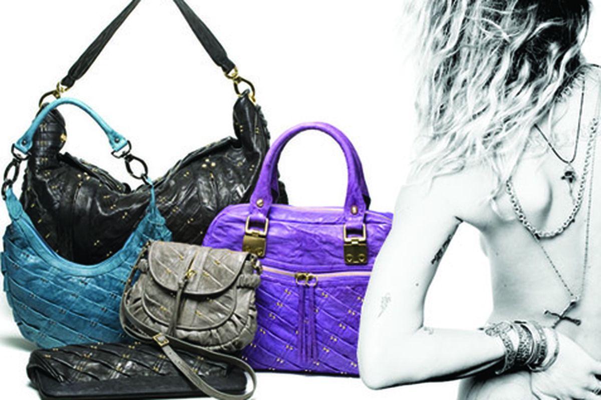 Left, pretty bags by Treesje; right, Erin Wasson's back!
