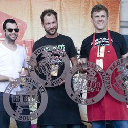 Winners: Aaron Franklin, Nick Pencis, Wayne Mueller