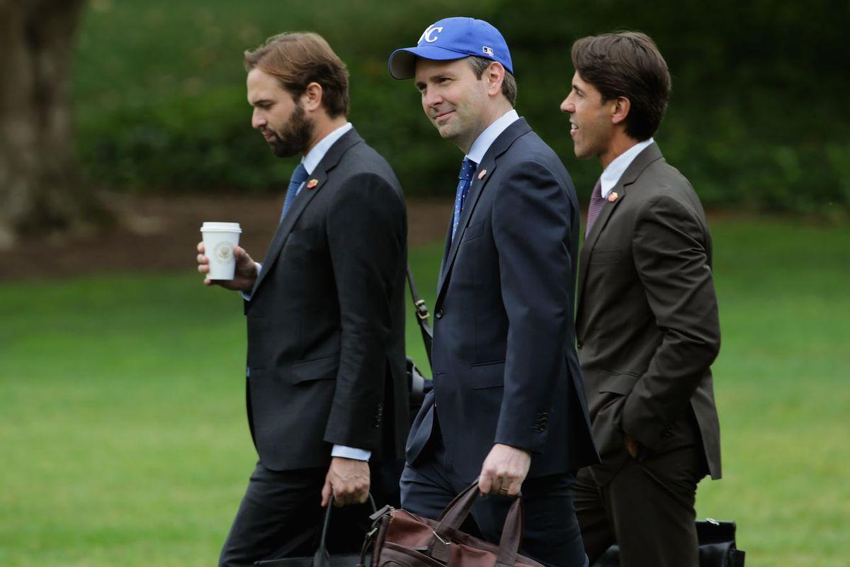 White House Press Secretary Josh Earnest displaying his Royals Fandom -- Chip Somodevilla/Getty Images