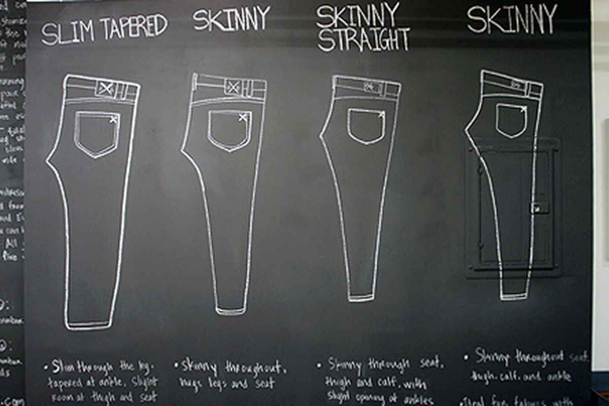 "Den.m Bar. Photo via <a href=""http://brighamyen.com/2012/03/09/den-m-bar-downtown-los-angeles-first-custom-denim-jeans-workshop-now-open/"">Brigham Yen</a>."