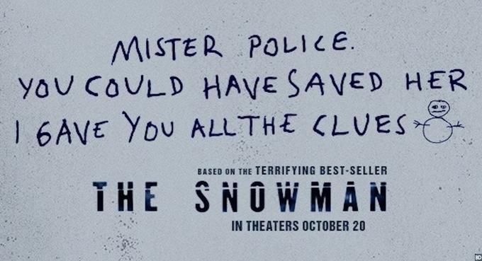 The poster for The Snowman