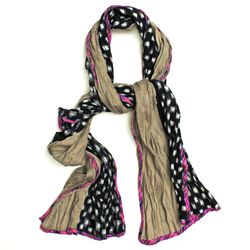 """<strong>Patch NYC</strong> Mixed Fabric Scarf, <a href=""""http://www.patchnyc.com/products/classic-mixed-fabric-scarf-fsc101-b#"""">$124</a>"""