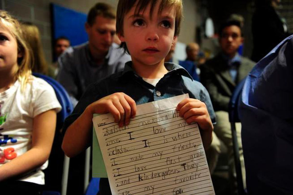 A student at Ralston Elementary School in Golden.