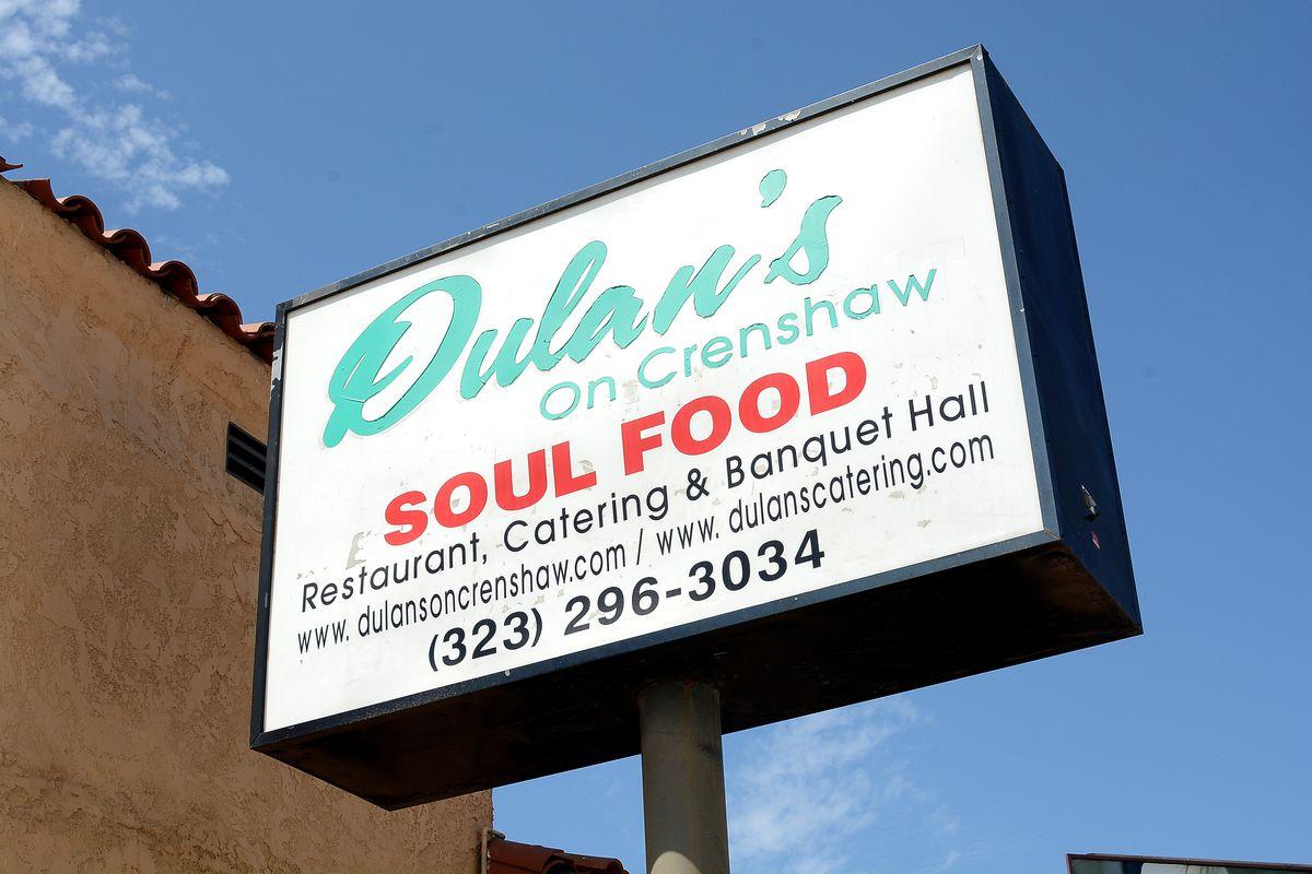 Signage for Dulan's On Crenshaw.