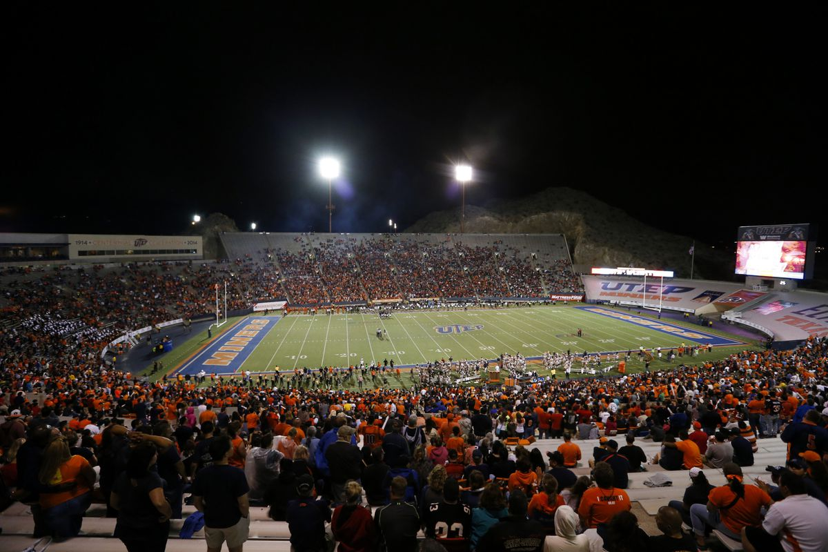 UTEP playing Texas Tech at the Sun Bowl in September. The Miners lead CUSA in average attendance.