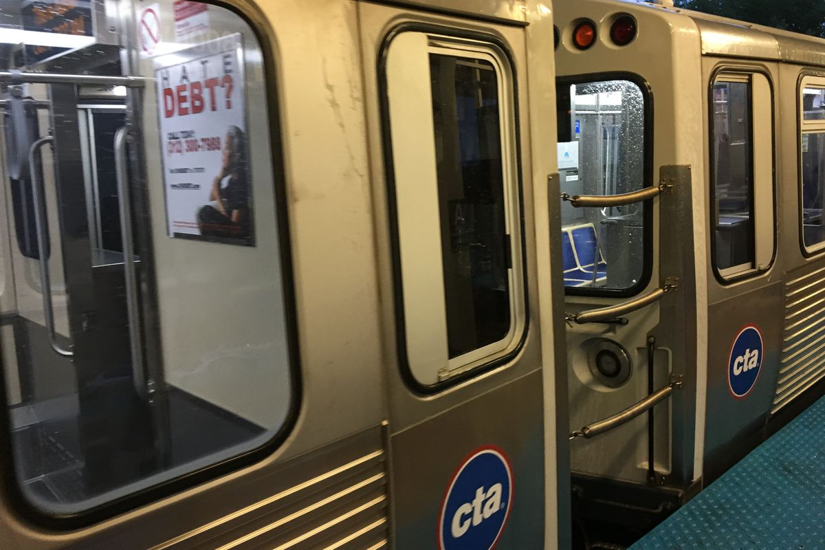 A man died after falling onto the third rail of the Red Line tracks June 10, 2020, at the Grand station.
