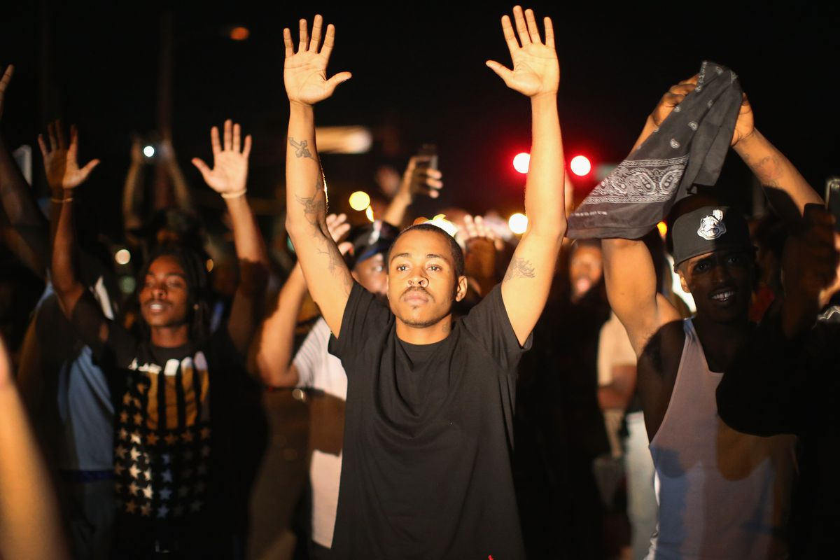 A peaceful but emotional protest in Ferguson.