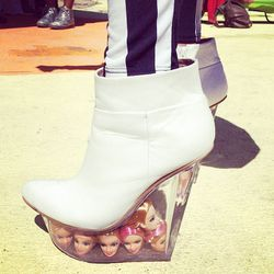 ...here's the finale! Boots with floating Barbie heads, courtesy of Jeffrey Campbell.