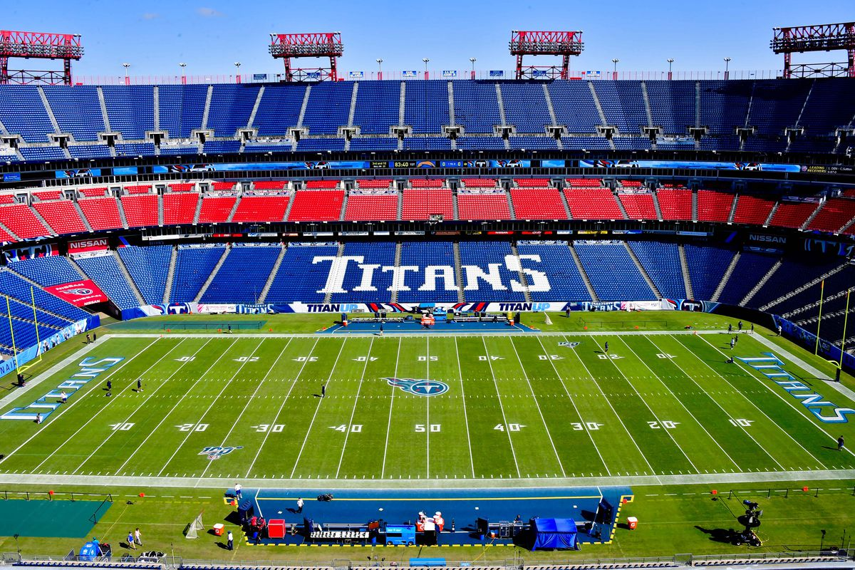 A general view inside Nissan Stadium prior to the game between the Tennessee Titans and the Los Angeles Chargers.