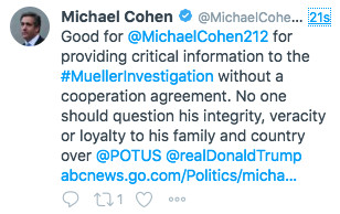 Screen_Shot_2018_09_20_at_7.54.36_PM Michael Cohen tweets, then deletes, praise of himself for talking to Mueller