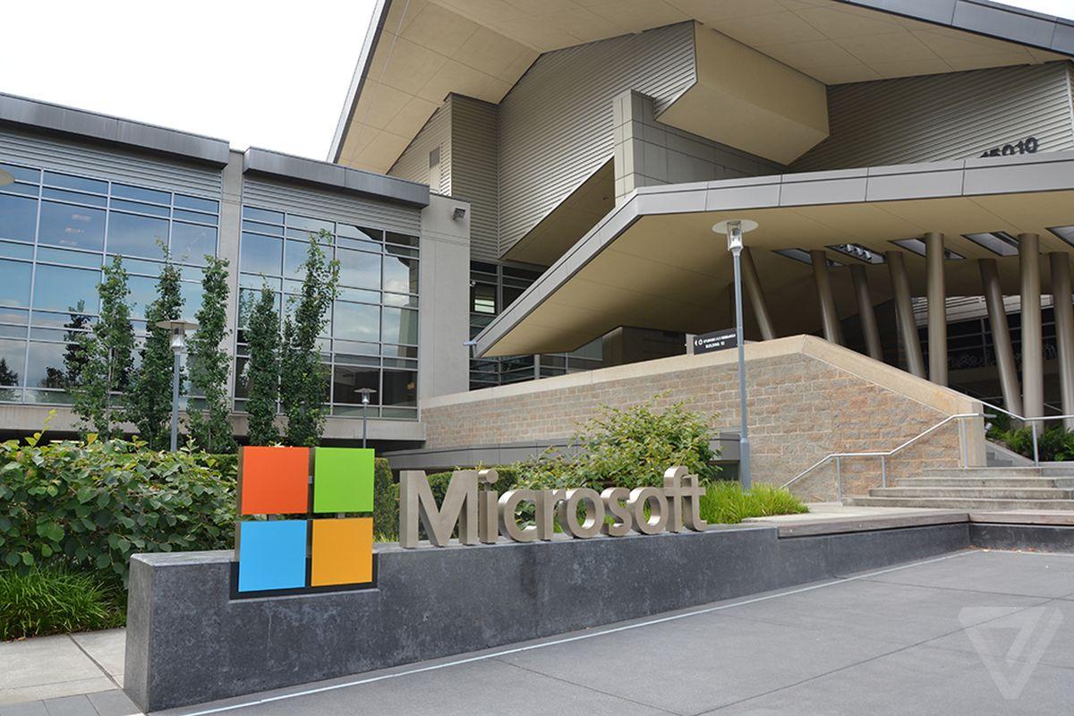 Microsoft logo stock