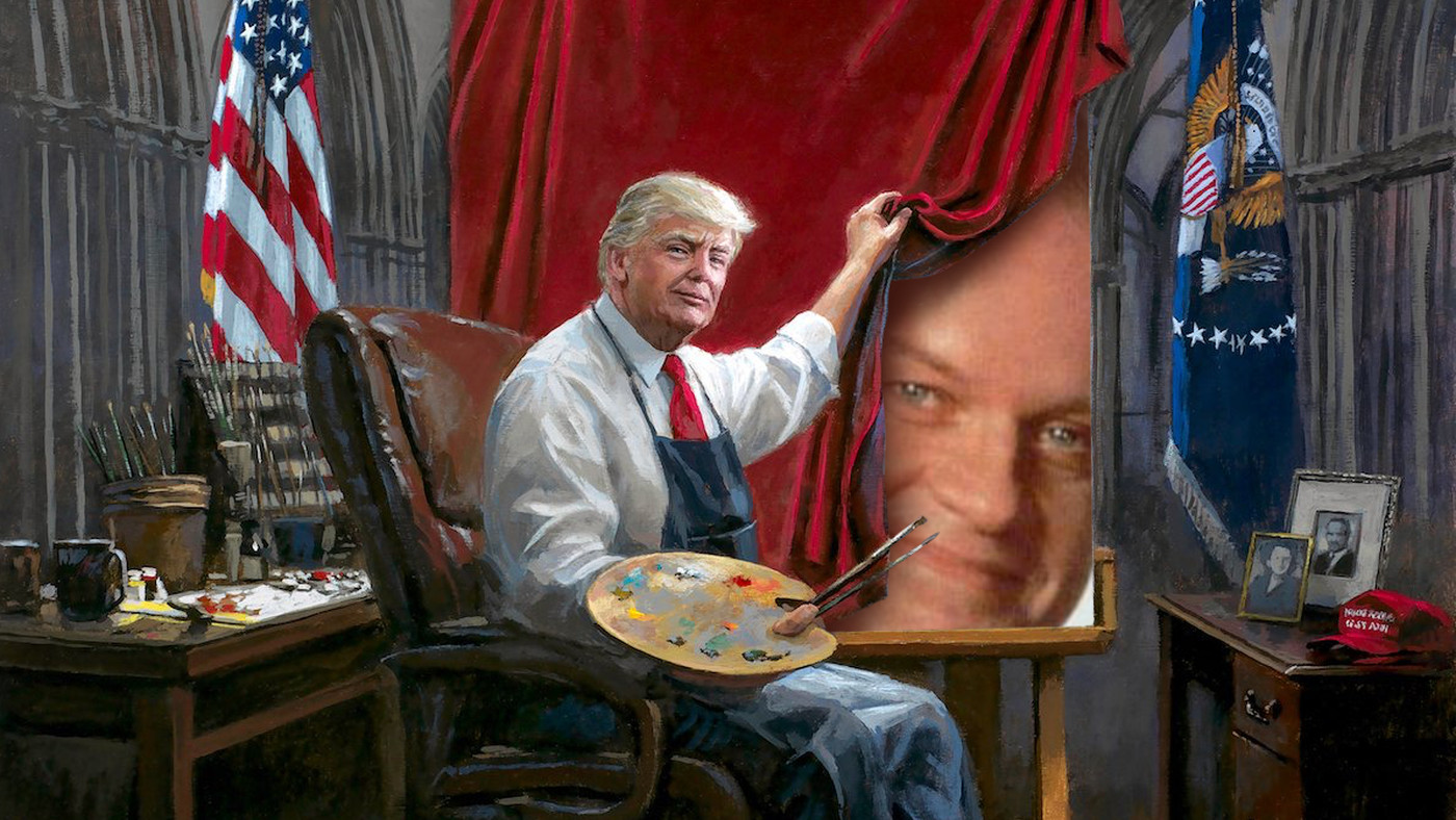 This Painting Of Trump Has Become The Ultimate Meme Fodder