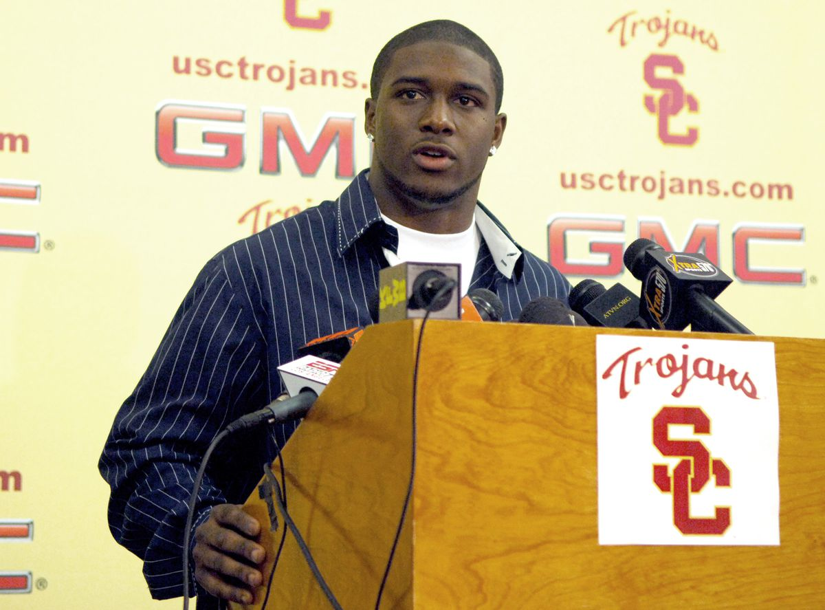 NCAA Football - Reggie Bush Declares His Eligibility for the NFL Draft - January 12, 2006