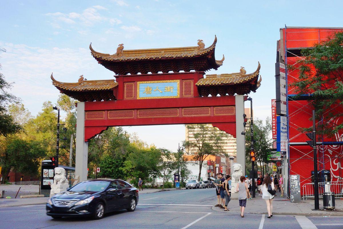 Montreal's Chinatown gate