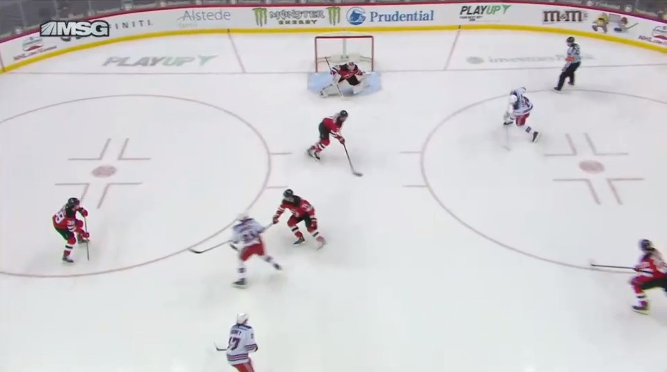April 18: This whole situation was created by a heinous turnover by Siegenthaler in the defensive zone. This led to Vitali Kravtsov being perhaps the widest open he's ever been in this league for this one-timer on a non-rush play.