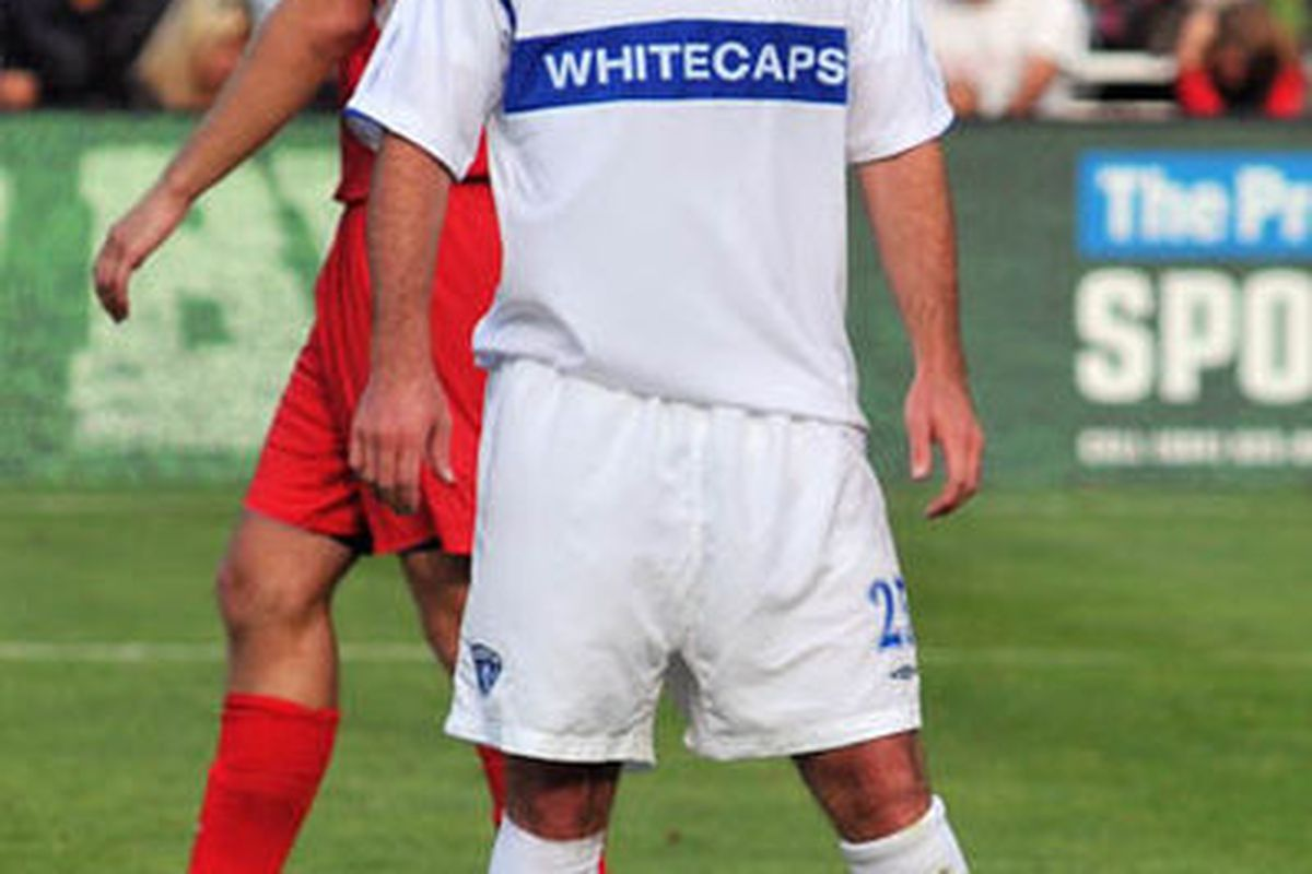 Cody Arnoux in action for USSF D-2 side Vancouver Whitecaps (Image courtesy of Wikipedia user Wilson Wong)