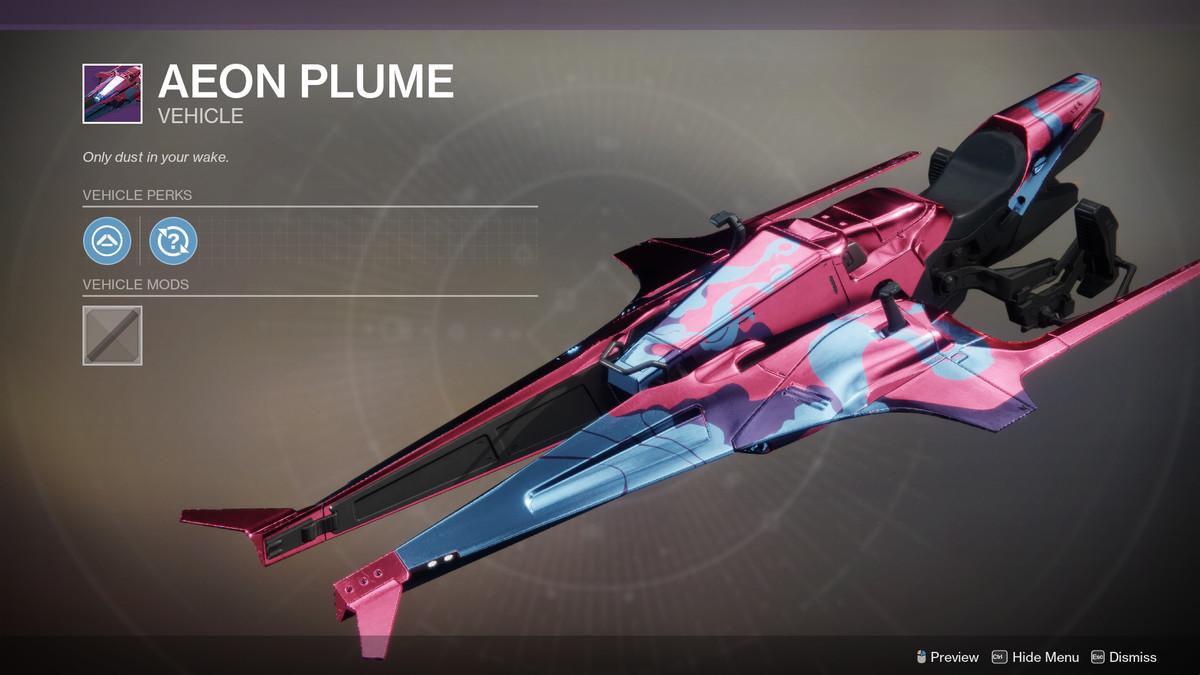 Aeon Plume Sparrow Destiny 2