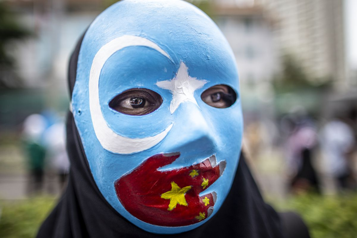 Rally For Muslim China Uighur In Front Of China Embassy