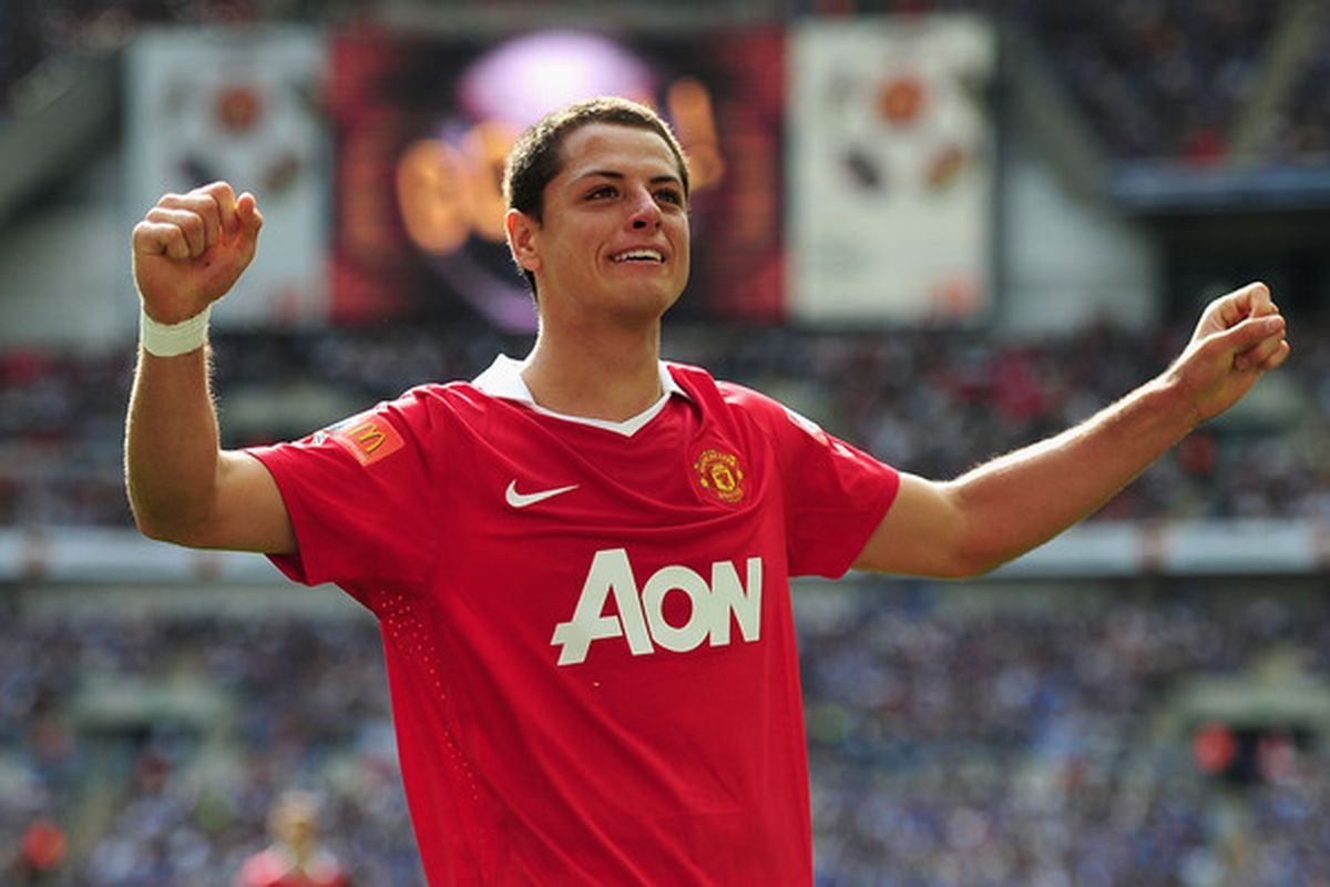 LONDON ENGLAND - AUGUST 08:  I have an uncontrollable urge to pinch Chicharito's cheeks and soon enough most Manchester United supporters will feel the same way. (Photo by Laurence Griffiths/Getty Images)