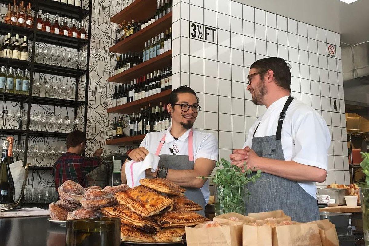 Hunter (left) at Superba Snack Bar