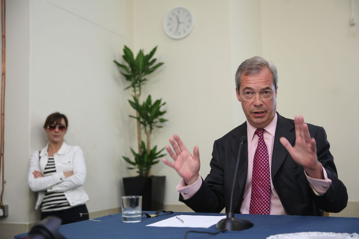 Nigel Farage Gives His Final Speech Of The EU Referendum Campaign