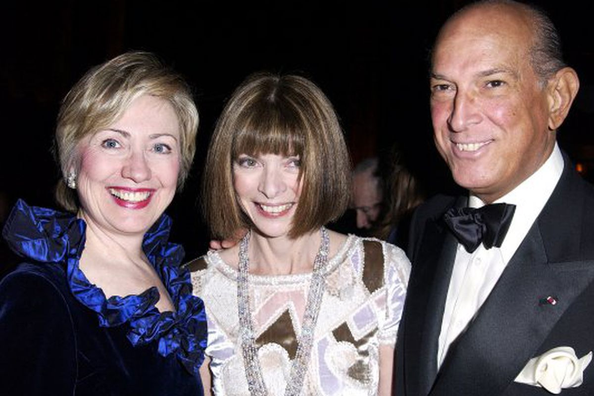 "Clinton, Wintour, and de la Renta, via <a href=""http://nymag.com/thecut/2013/05/hillary-clinton-will-attend-the-cfda-awards.html"">The Cut</a>"