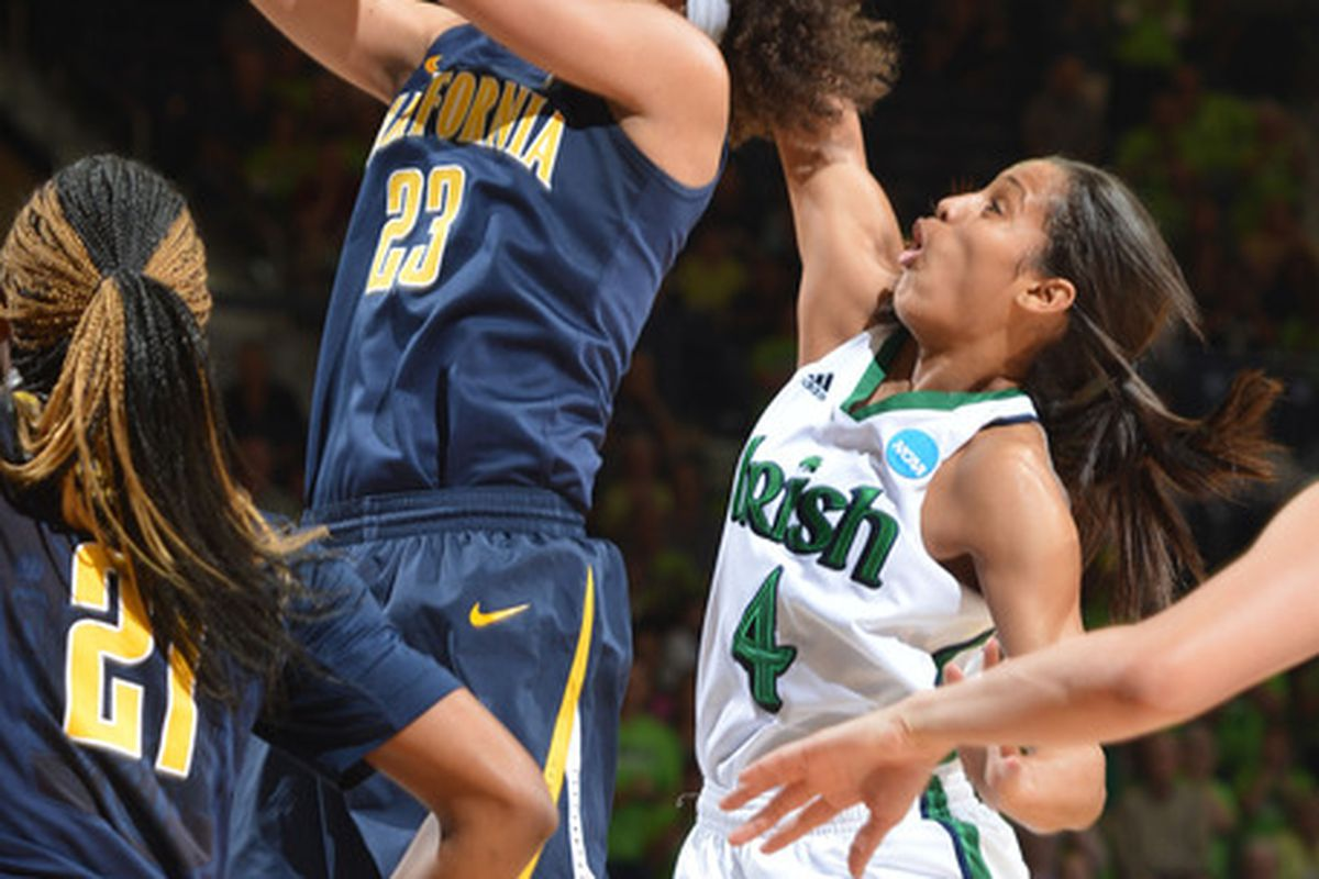 Layshia Clarendon did everything in her power to keep Cal right with Notre Dame Tuesday night.