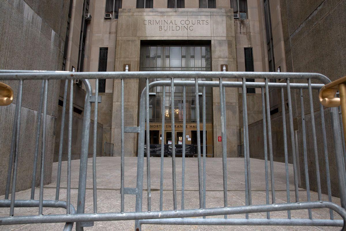 Manhattan Criminal Court, April 20, 2020.