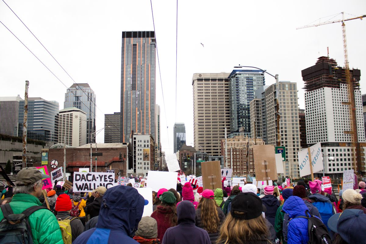 Seattle Weekend Traffic And Transit Womxn S March And Mlk Day