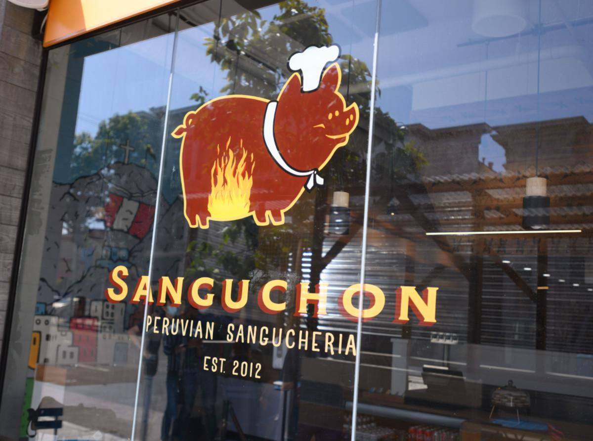 Storefront of Sanguchon on Valencia