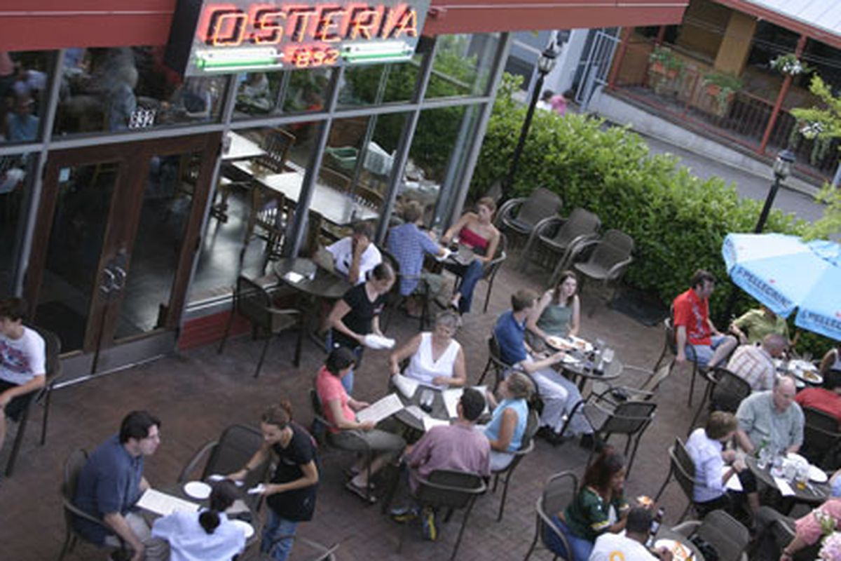 The patio at Osteria 832. Photo courtesy of The Reynolds Group Inc.