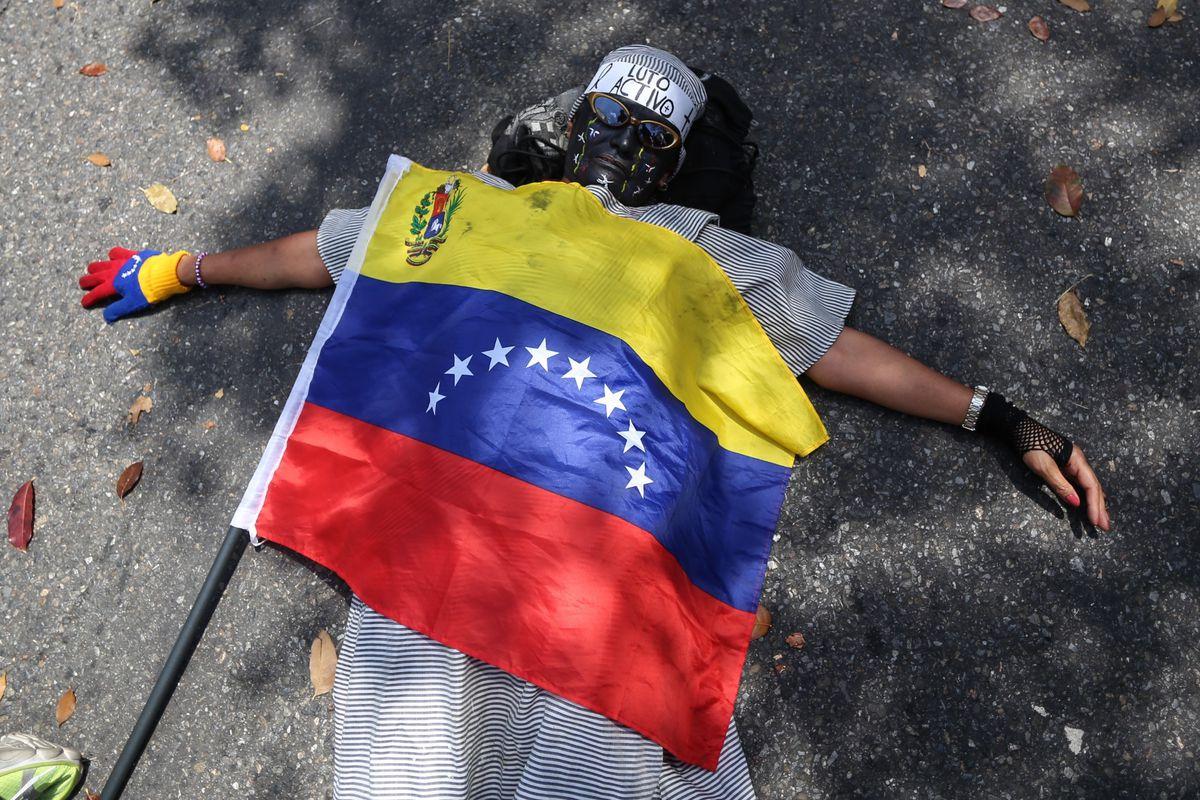 Protester Venezuela Caracas Roa death