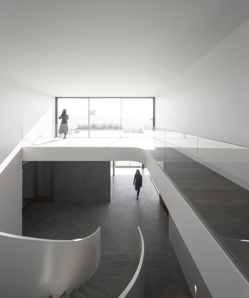 Person standing on mezzanine level