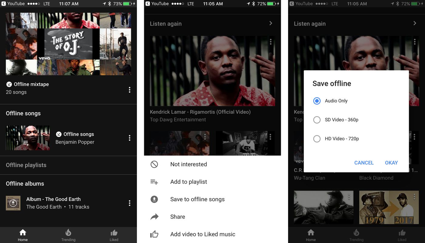 Youtube Music Now Lets You Save Songs Albums And Playlists For Offline Listening The Verge