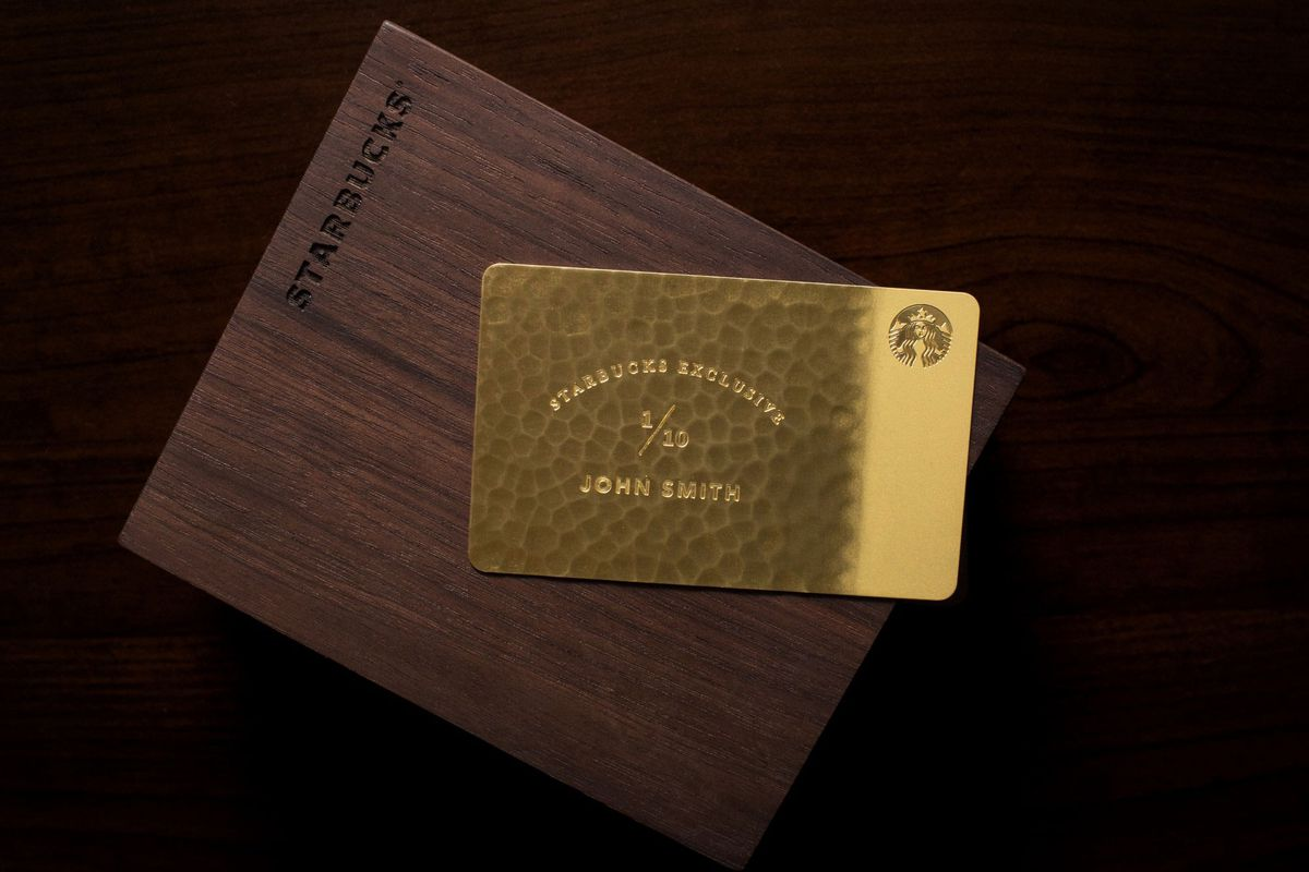 Starbucks \'Exclusive\' $5,000 Giftcard Is Made from 10-Karat Gold - Eater