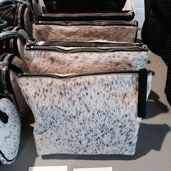KARA Calf Hair Pouch, $130