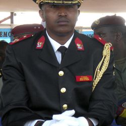 FILE-  In this June 30, 2010 file photo, Congolese former  warlord Bosco Ntaganda in his national army uniform attends the 50th anniversary celebration of Congo's independence in Goma in eastern Congo.  In a marked turnaround, Congo's president Joseph Kabila called Wednesday, April 11, 2012 for the arrest of Ntaganda, a notorious ex-warlord and army general, who has been allowed to walk freely despite an international indictment, an official said. Ntaganda is accused of using child soldiers for fighting in Ituri, in northeastern Congo, from 2002 to 2003.
