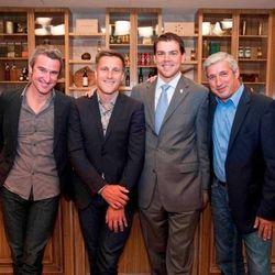 Master sommeliers Richard Betts, Bobby Stuckey, Jason Smith and Emmanuel Kemiji at Bellagio's Tuscany Kitchen.