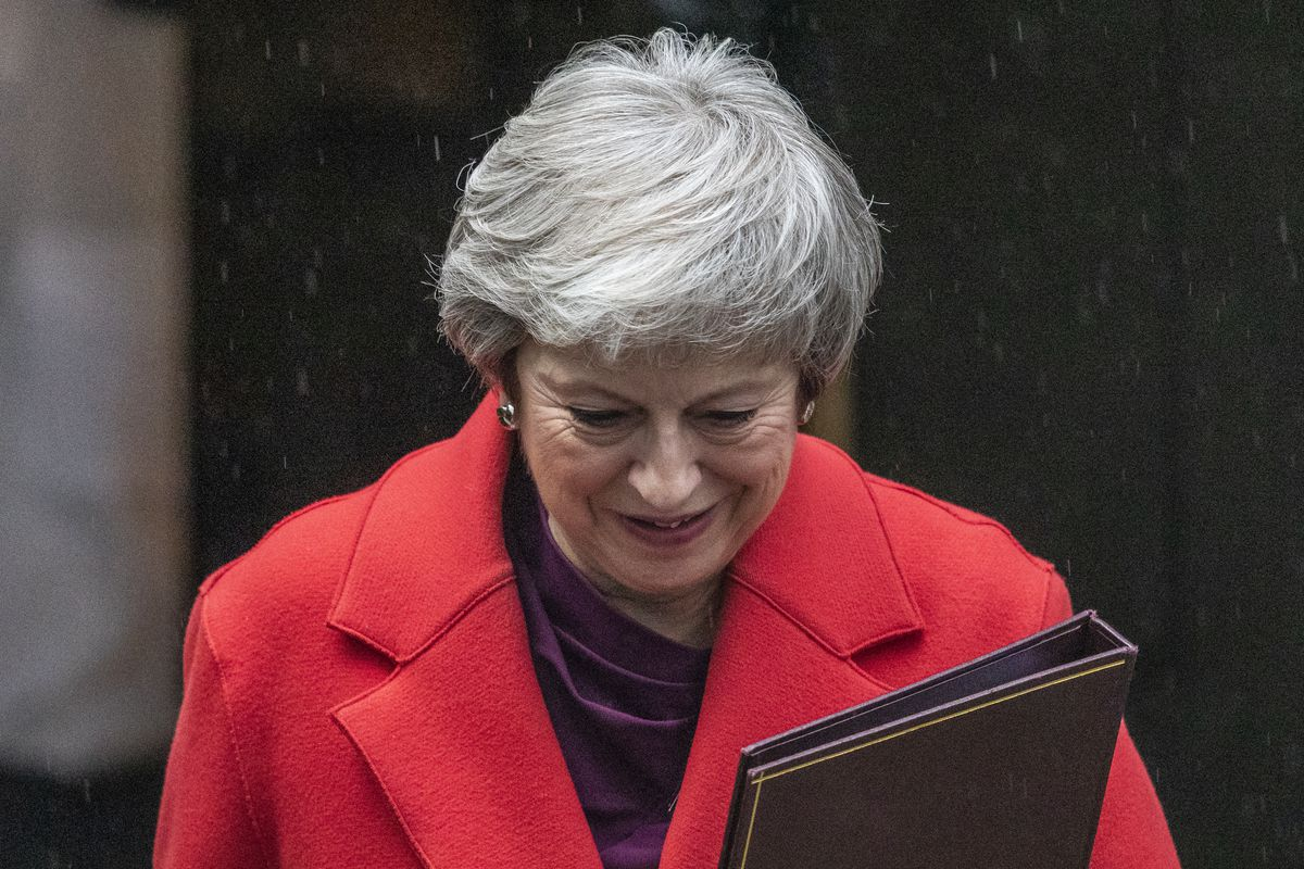 Theresa May Leaves To Brief The House Of Commons On The G20 Summit
