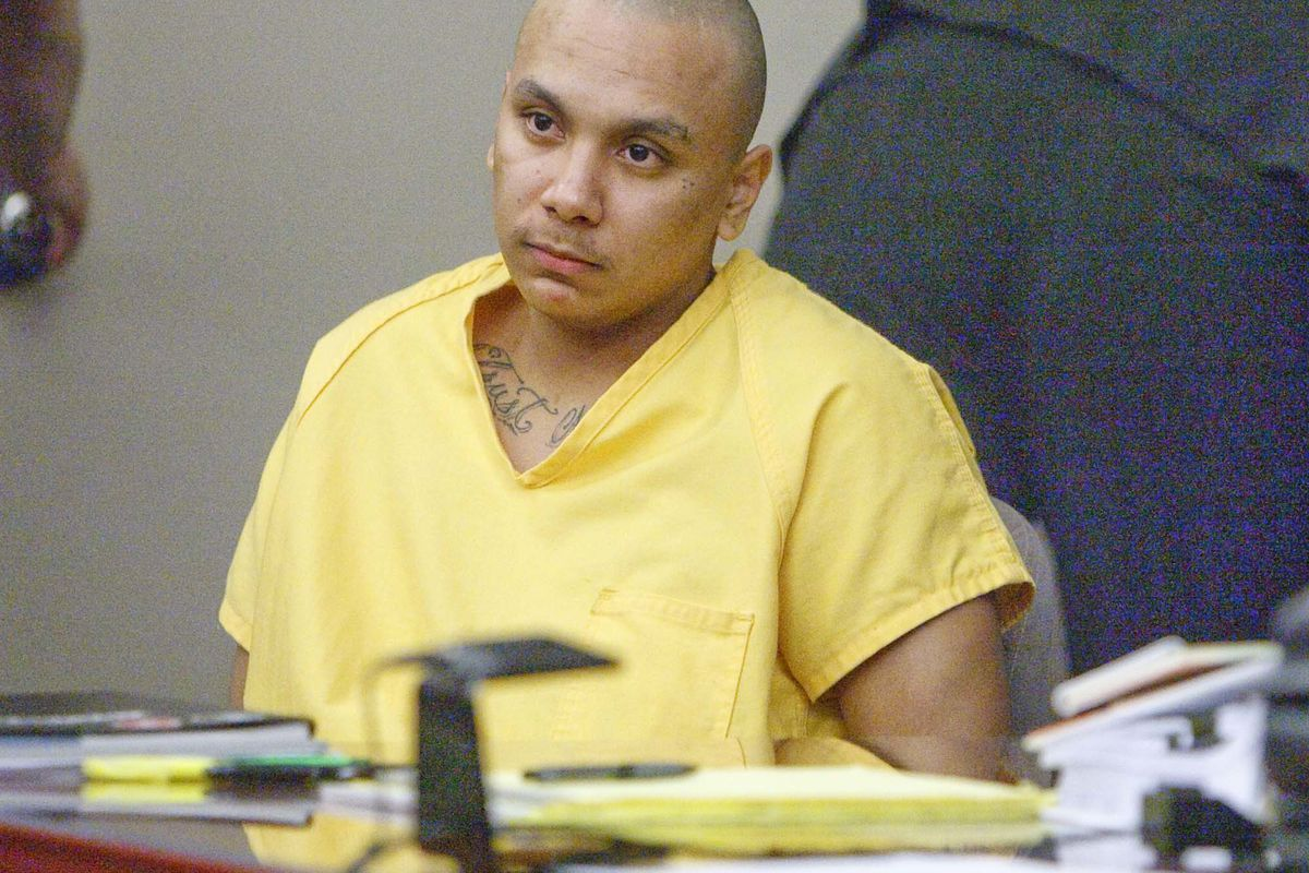 FILE - Frank Benavidez sits at the defense table in the courtroom of Judge Robin Reese.