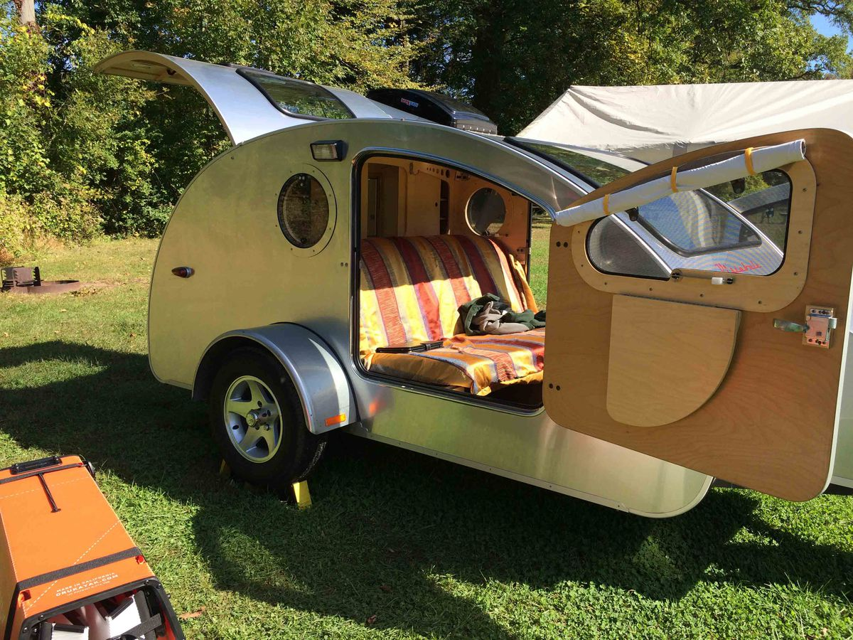 Tiny Teardrop Trailer Has Huge Windows For Stargazing Curbed