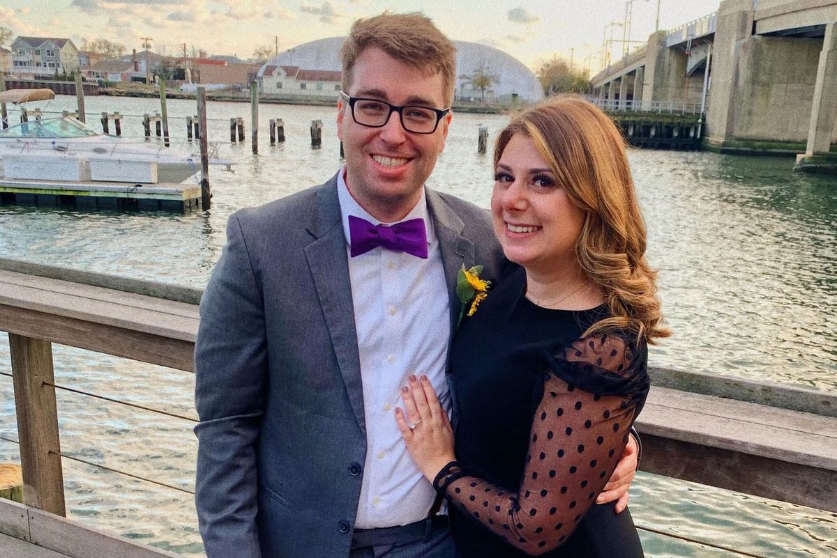 Mark Valenski and Tara Simms of Astoria, Queens, will wed via Zoom and have postponed their reception until next year.