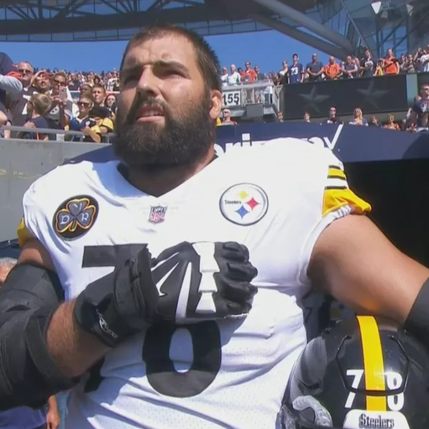 9cc385a28 Steelers  Alejandro Villanueva  embarrassed  by national anthem photo -  SBNation.com